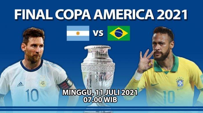 Cara Nonton Live Streaming Brasil vs Argentina di Final Copa America 2021, Siaran Langsung Indosiar
