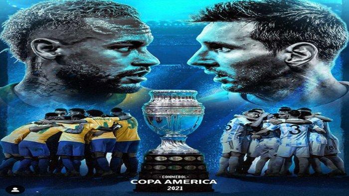 Statistik dan Head to Head (H2H) Brasil Vs Argentina, Ini Jadwal Final Copa America 2021