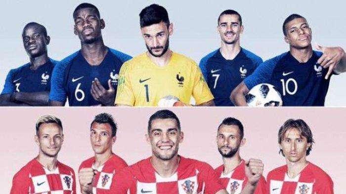 LINK LIVE STREAMING Final Piala Dunia 2018 Prancis Vs Kroasia Lewat HP Begini Cara Nontonnya