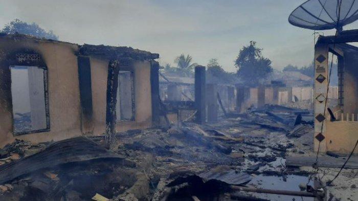 Kebakaran di Pasar Bawah Lahat : 61 Rumah Hangus, 8 Rusak Berat, 3 Rusak Ringan