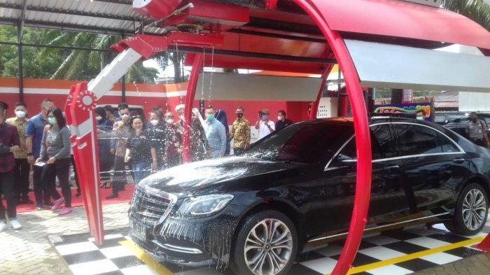 Tempat Cucian Mobil Baru di Palembang, Fox Auto 45 Car Wash Robotik Cuma Rp 40 Ribu