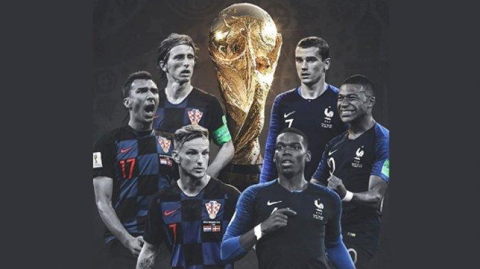 Prediksi Final Piala Dunia Prancis vs Kroasia - Final Eropa ke 9 Kali Sepanjang Sejarah