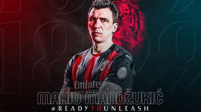 Mario Mandzukic ke AC Milan Liga Italia, Pilih Jersey Nomor Keramat, Terpikat Ibrahimovic, Biofile
