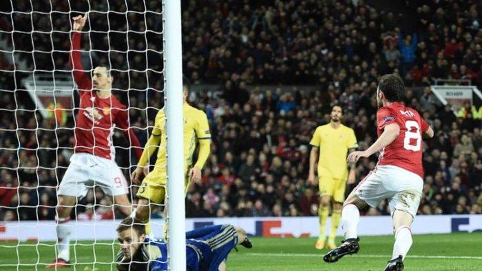 Gol Tunggal Juan Mata Bawa Man United ke Perempat Final