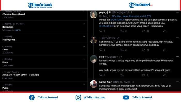 Tagar #GerakanMuteMassal Menyembul di Media Sosial Saat Pertandingan Piala Menpora 2021
