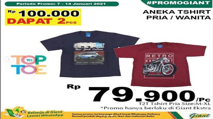 Diskon Gede Beli Buah di Giant, Promo Spesial Weekend, Harga T-Shirt Cuma 100.000/2 pcs