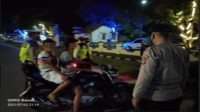 Aparat Gabungan Polres Ogan Ilir dan Polsek Indralaya Razia KRYD Antisipasi Tindak Kejahatan