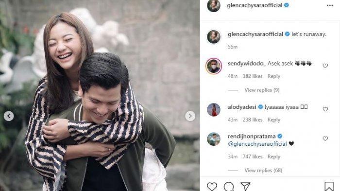 Glenca Chysara dan Rendi Jhon tak malu lagi pamer kemesraan