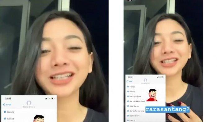 Glenca Chysara ungkap nama kontaknya disimpan unik oleh seseorang (Instagram)