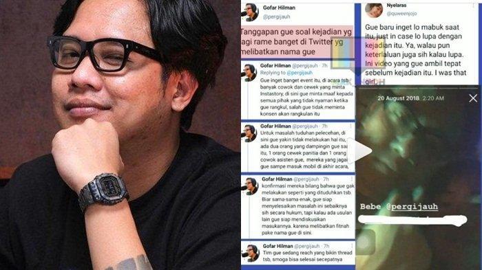 Gofar Hilman Minta Maaf, Heboh Akun Twitter yang Ngaku Jadi Korban Pelecehan Sang Presenter
