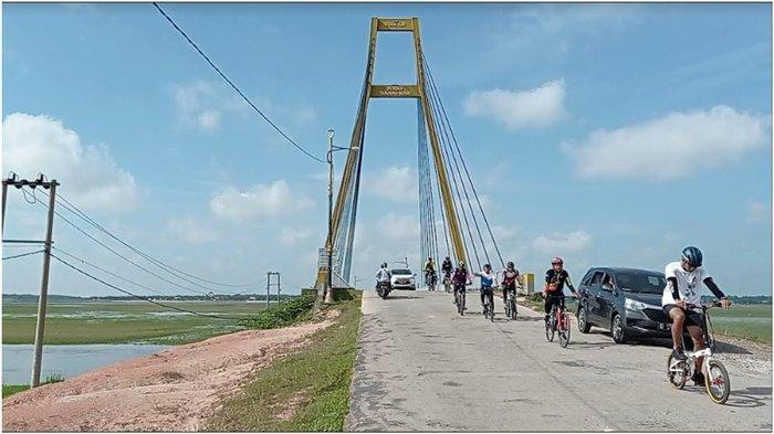 Satlantas Polres OI dan Polsek Indralaya Adakan Gowes Bareng, Tempuh Rute Sejauh 20 Kilometer