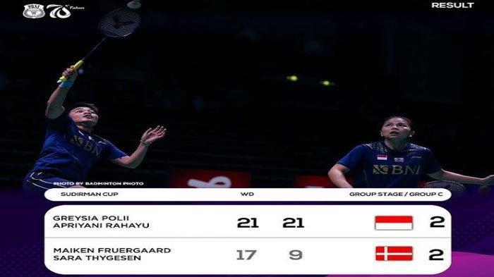 Hasil Sudirman Cup 2021, Indonesia Kalahkan Denmark, Siapa Lawan Minions dkk di Perempat Final?