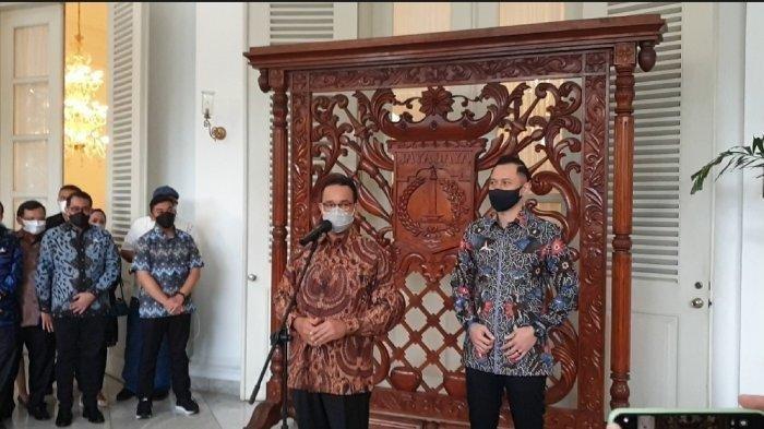 Ketum Partai Demokrat, AHY Sebut Alasannya Bertemu Dengan Gubernur DKI Jakarta, Anies Baswedan