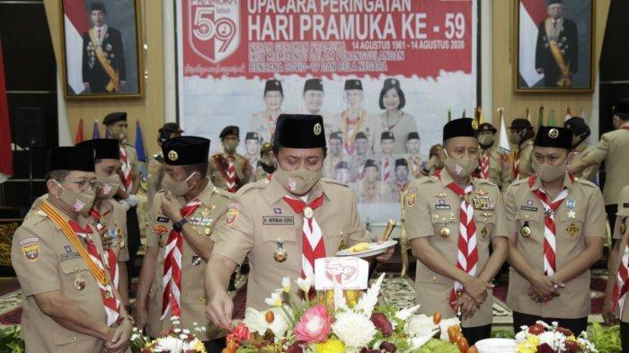 Gubernur Herman Deru Instruksikan Bupati-Walikota Aktifkan Pramuka Secara Optimal