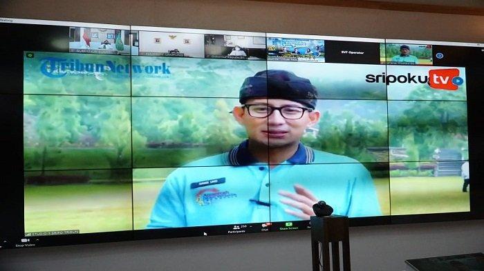 Webinar Bersama Menteri Sandiaga Uno, Herman Deru Promosi Ranau Grand Fondo dan Sriwijaya Dempo Run