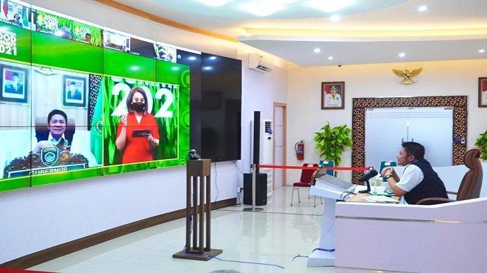 Gubernur Herman Deru Ikuti Webinar Indonesia Food Summit 2021 Secara Virtual