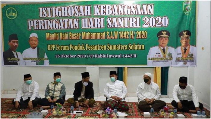 Gubernur Sumsel Herman Deru Imbau Ponpes se-Sumsel Disiplin Jalankan Pergub Nomor 37 Tahun 2020