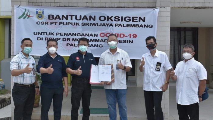 Pusri Kirimkan Bantuan Oksigen untuk Penanganan Covid-19 di Rumah Sakit Palembang