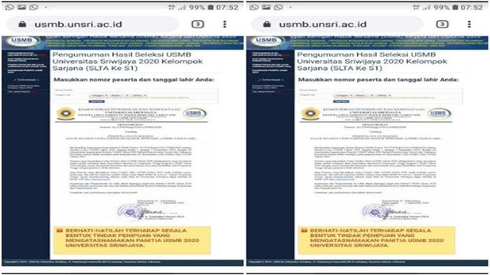 13 PTS di Sumsel Ikut USMB Unsri, Berikut Daftar PTS dan Jadwal Lengkap  Ujian