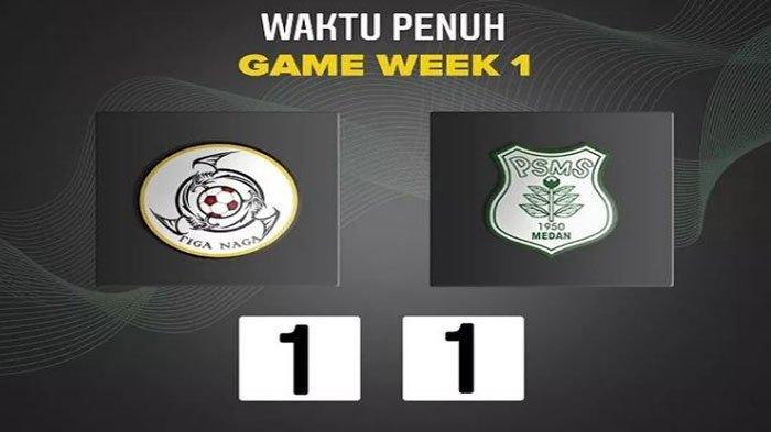 Hasil Akhir Pertandingan KS Tiga Naga Vs PSMS Medan Liga 2 Grup A, Skor Sama Kuat