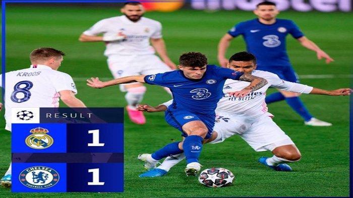 Jadwal Live  Super Big Match Chelsea Vs Real Madrid Liga Champions: Taktik Tuchel Redam Sergio Ramos