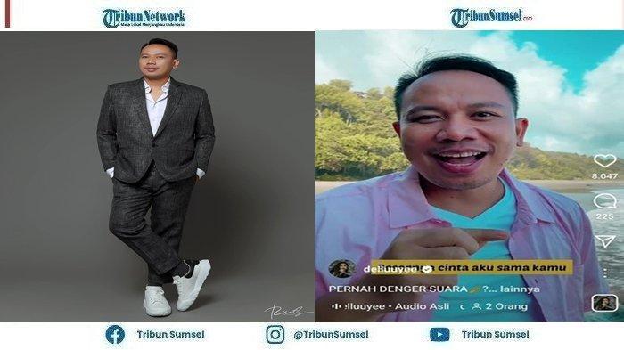 Vicky Prasetyo melakukan aksi lelucon pesan cinta dengan gayanya yang khas saat berlibur,Minggu(19/9/2021).