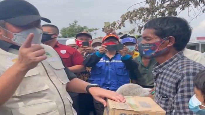 Gubernur Sumsel Beri Bantuan ke Korban Kebakaran Desa Terusan Laut OKI