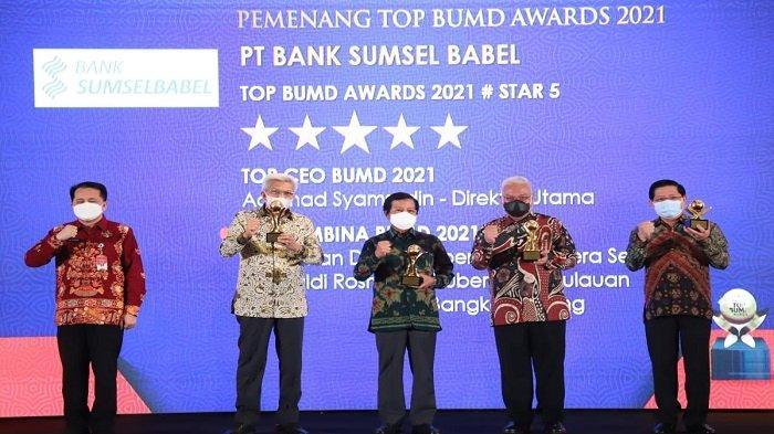 Gubernur Sumsel Herman Deru Kembali Terpilih menjadi Top Pembina BUMD Terbaik 2021