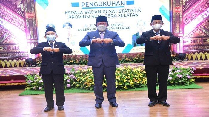 Gubernur Herman Deru Kukuhkan Zulkipli Sebagai Kepala BPS Sumsel