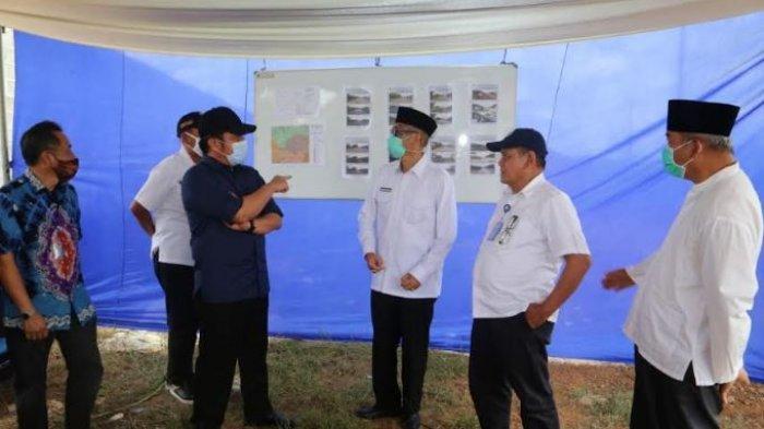 Herman Deru Tinjau Pengerjaan Perbaikan Jalan Simpang Belimbing-Pendopo PALI Sepanjang 27 Km