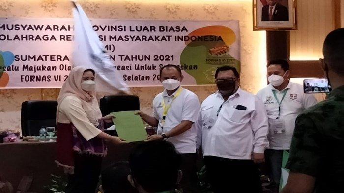 Hj Samantha Tivani HD Secara Aklamasi Terpilih Jadi Ketua Kormi Sumsel