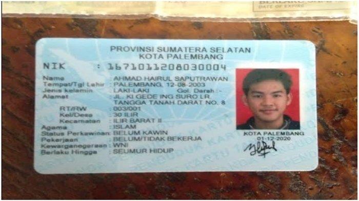 Identitas pemuda ditemukan dalam kondisi penuh luka di kawasan perumahan pemkot Kecamatan Gandus Palembang, Jumat (19/2/2021).