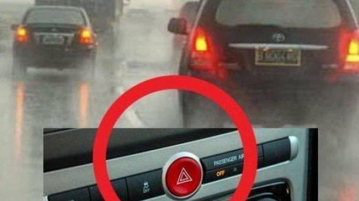 Saat Hujan Hidupkan Lampu Hazard Ternyata Salah, Ini Bahayanya Bagi Kendaraan di Belakang