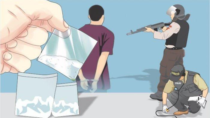 Polisi Tangkap Tiga Pengedar Narkoba di Palembang, Dua Diantaranya Diduga Oknum Polisi, Kronologinya
