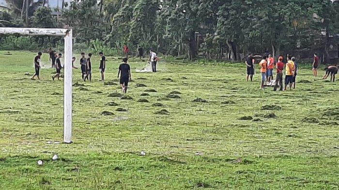 Aktifkan Pembinaan Sepakbola, Old Star Tanjung Enim Kerja Bakti Perbaiki Lapangan Talang Jawa