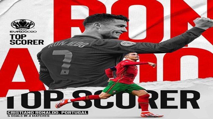 Pesan Cristiano Ronaldo Usai Berhasil Mendapat Gelar Top Skor Euro 2020