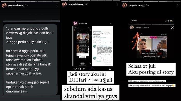 Instagram Story Puspa Ritchwary soal Instagram Live Nino Al Hakim