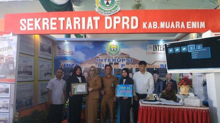 Interupsi Sekretariat DPRD Muaraenim Juara Pertama Top 10 Gagasan Inovasi
