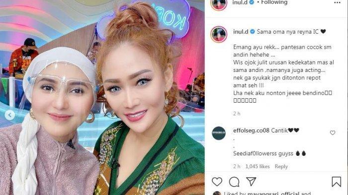 Inul Daratista foto bareng Rara Nawangsih pemeran Mama Sofia di Ikatan Cinta