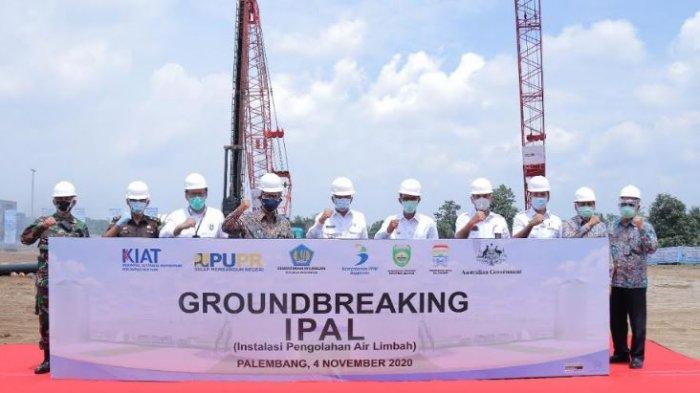 PembangunanInstalasi Pengelolaan Air Limbah Sei Selayur Dimulai,Palembang Pertama di Indonesia