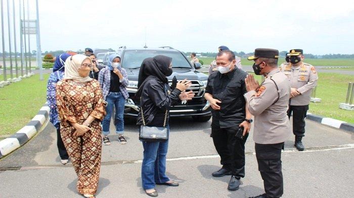 Tiba di SMB II, Kapolda Sumsel Irjen Pol Toni Harmanto Disambut Wakapolda dan Jajaran PJU