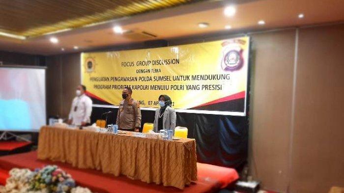 Irwasda Polda Sumsel Buka FOcus Group Discussion Fungsi Pengawasan
