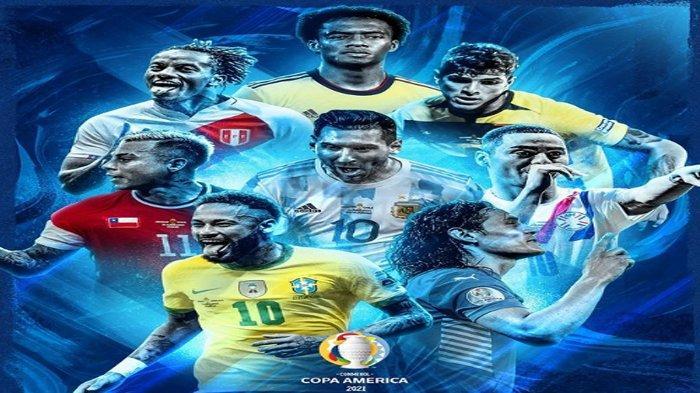 Jadwal Babak 8 Besar Copa America 2021 Big Match Brazil vs Chile, Uruguay vs Kolombia