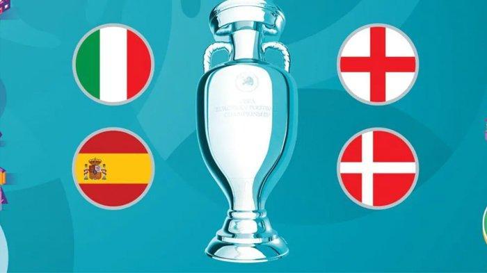Jadwal Lengkap Semi Final Euro 2020, Italia vs Spanyol dan Inggris vs Denmark