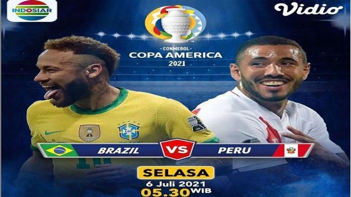 Jadwal Copa America 2021 Besok Brasil Vs Peru, Ini Prediksi dan Head to Head (H2H)
