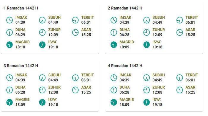 Jadwal Lengkap Waktu Imsakiyah dan Buka Puasa Ramadhan Tanjung Enim Kabupaten Muara Enim