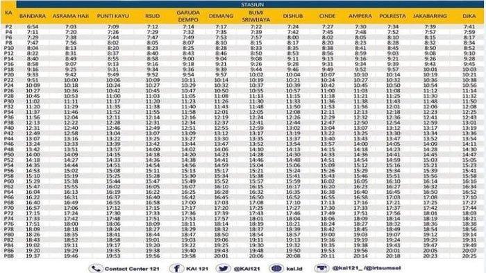Ini Jadwal Lengkap Jam Keberangkatan LRT Palembang Terbaru 2021, Mulai Pukul 06.00