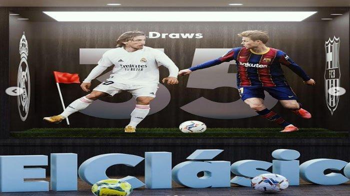 Jadwal Pertandingan Bola Malam Minggu : Ada El Classico Barcelona vs Real Madrid