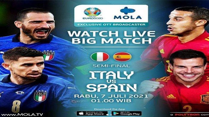 Jadwal Semifinal Italia vs Spanyol di Euro 2020, Ini Cara Nonton Live Streaming RCTI dan Mola TV