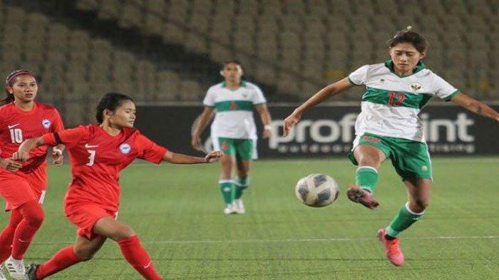 Ini Jadwal dan Link Live Streaming Timnas Sepak Bola Wanita Indonesia Vs Singapura, Laga Penentuan